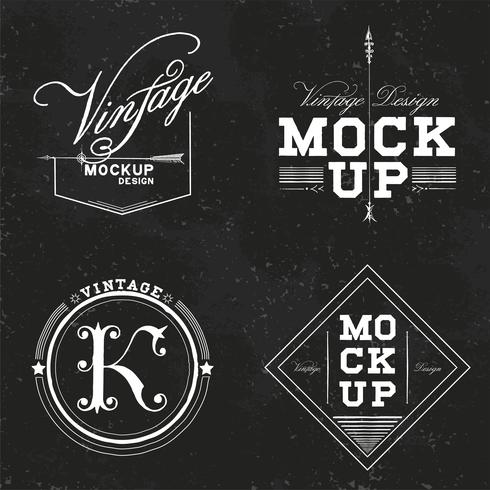 Set av vintage mockup logo design vektor