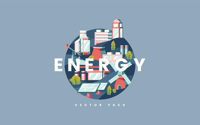 Vettore di concetto di energia in blu