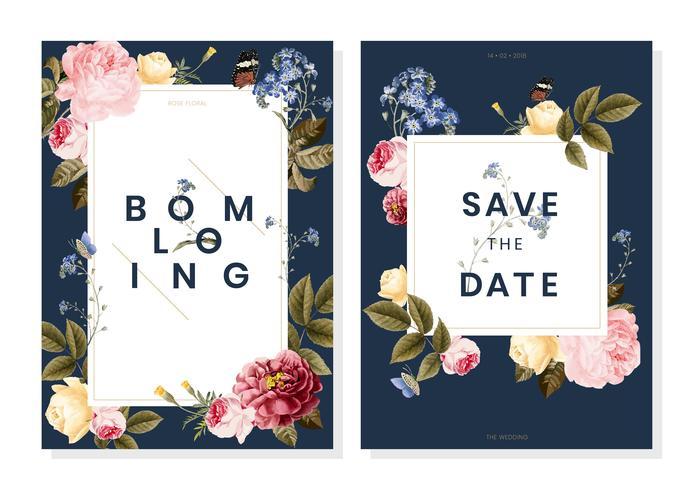 Sparen de uitnodiging van het datumhuwelijk
