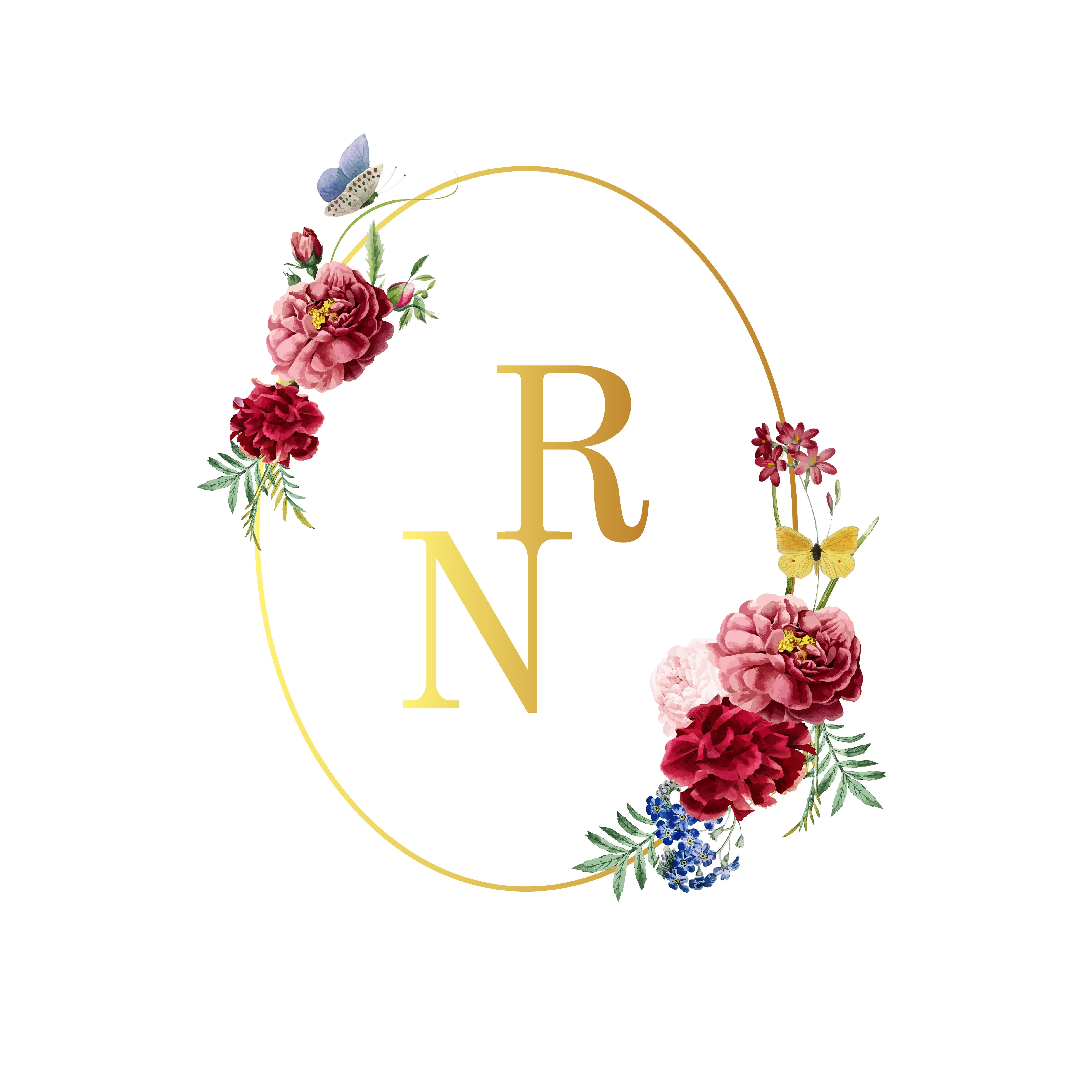 wedding invitation floral card illustration  download