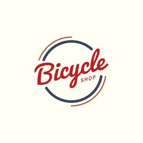 Vettore di progettazione di logo del negozio di biciclette