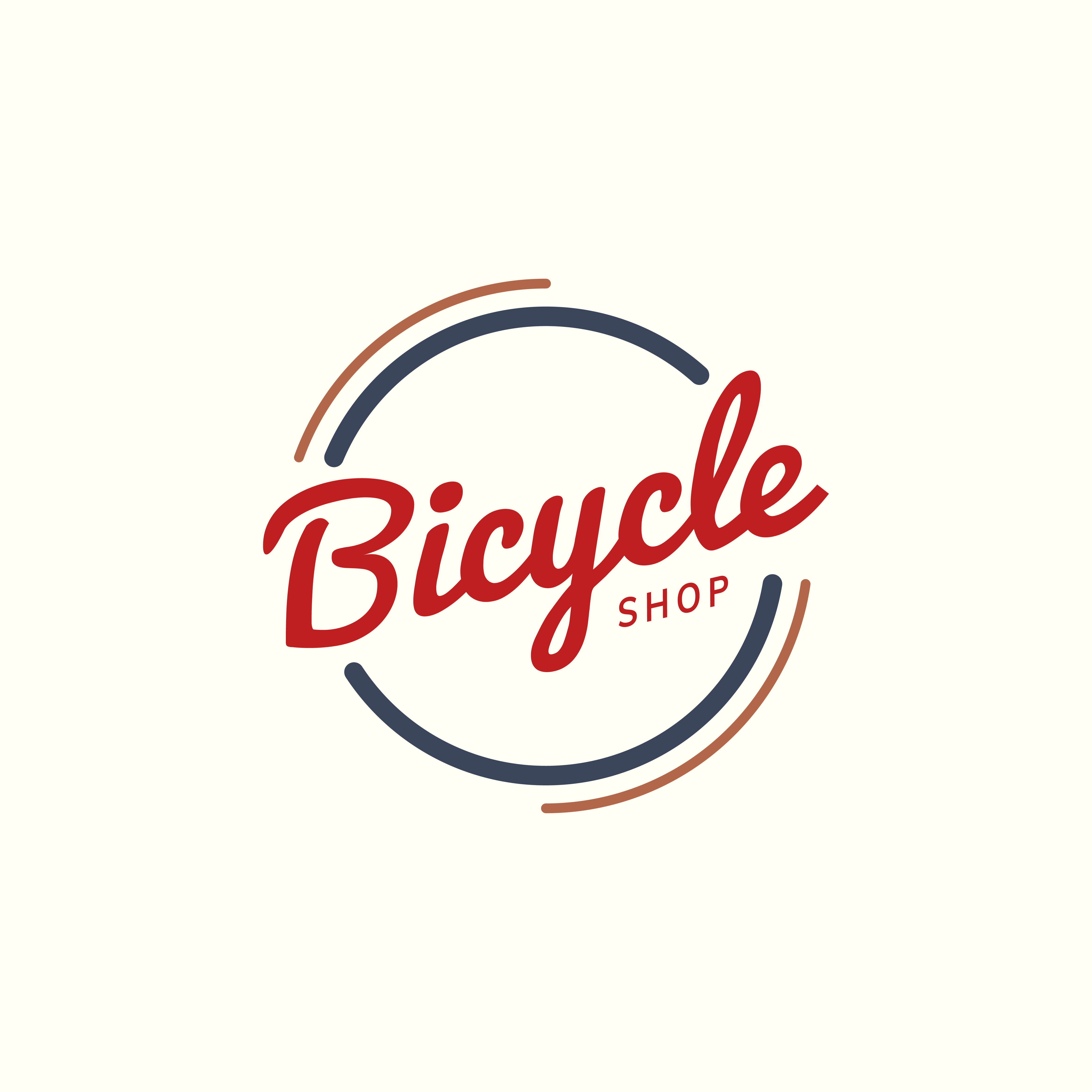 Bicycle Shop Logo Design Vector