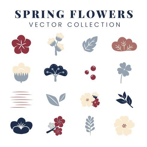 Färgglada blommor vektor