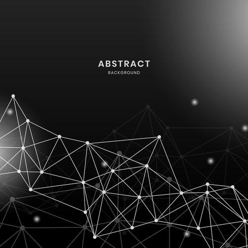 Svart neuralt nätverk illustration
