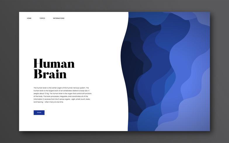 Mänsklig hjärnan informativ webbplats grafisk