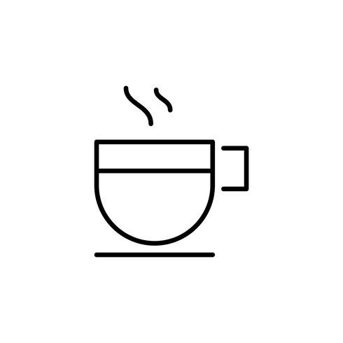 Ilustração, de, bebida quente, ícones, isolado, branco, fundo