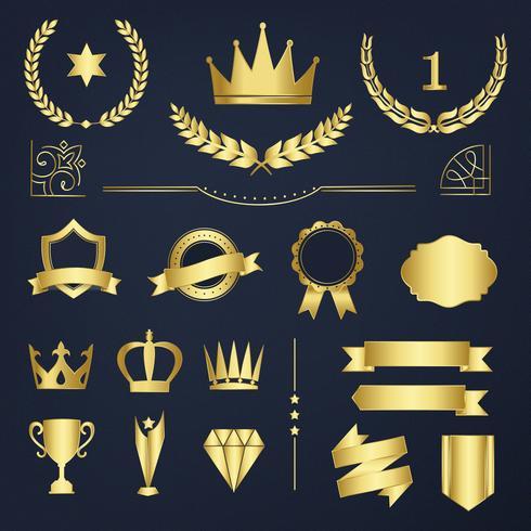 Ensemble de couronnes d'or
