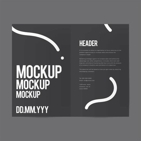 Brochure design template mockup vector