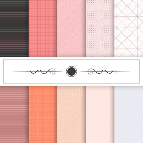 Samling av textur mönster vektor