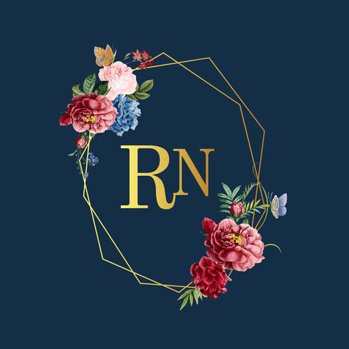 Illustration de carte floral invitation de mariage