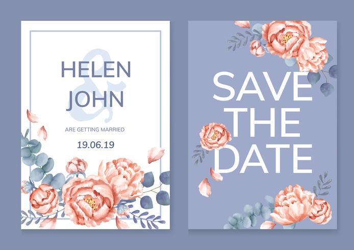 Blom- hälsningskort med ett lila schema