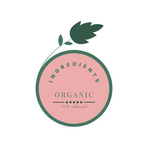 Icona di prodotti naturali e biologici