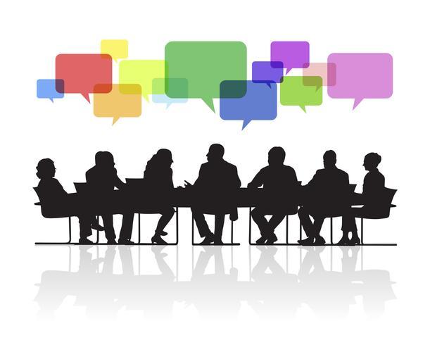 Illustration de gens d'affaires à la réunion