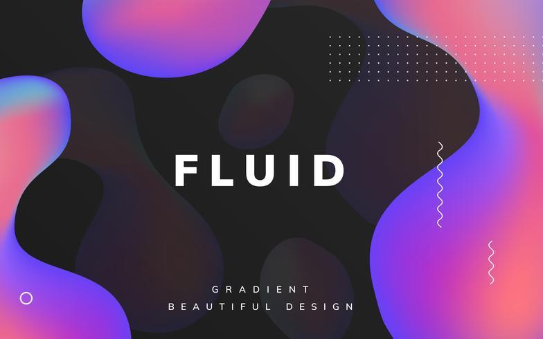 Design de papel de parede gradiente fluido
