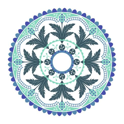 Blå indiska mandala