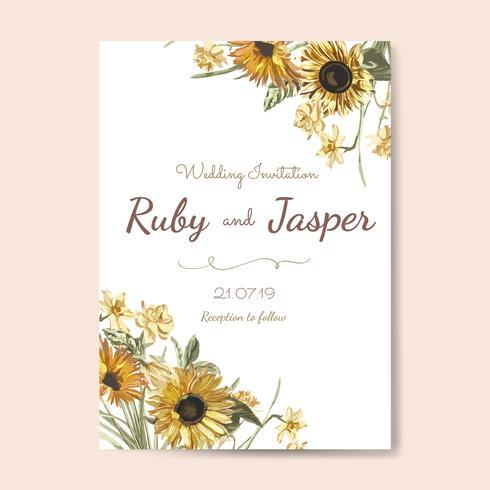 Motifs d'invitations à thème floral vecteur