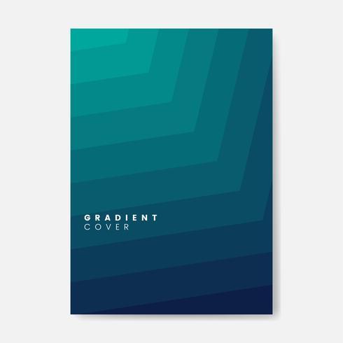 Design gráfico de capa de gradiente verde