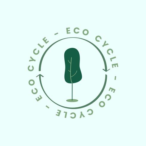 The eco cycle of nature icon