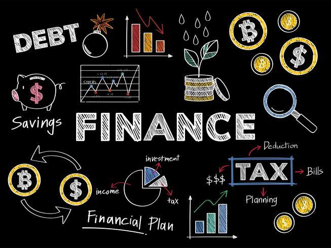 Finanças e ilustração de conceito de desempenho financeiro