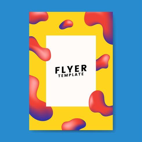 Diseño gráfico de la plantilla de volante colorido