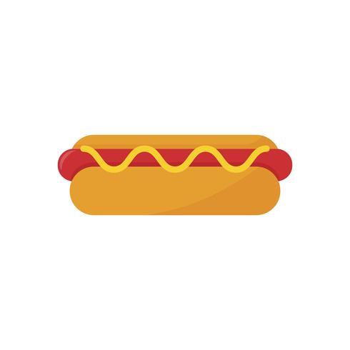 Ilustração de um cachorro-quente