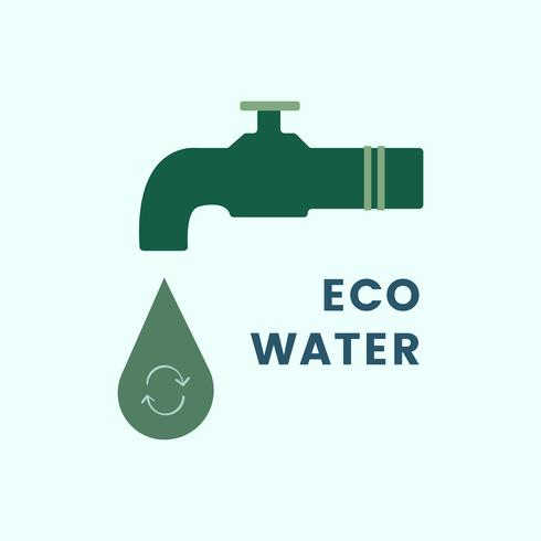 Recycled water system icon vector