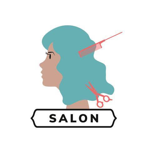 Icono de salón de belleza y peluquería.