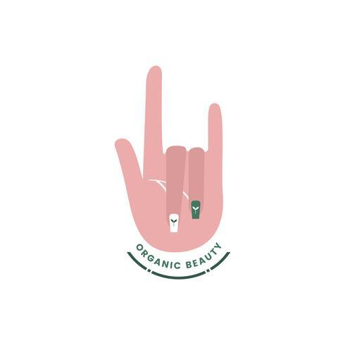 Logo of natural organic beauty