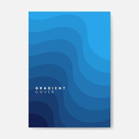 Diseño gráfico de la cubierta azul degradado