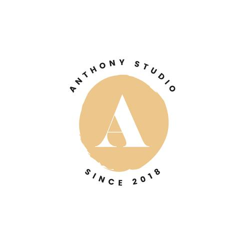 Anthony studio logo design vettoriale