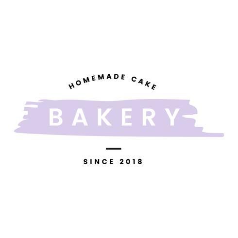 Panificio con il vettore di logo di torte fatte in casa
