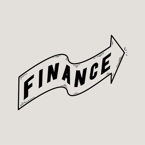 Ilustración del icono de la bandera de finanzas