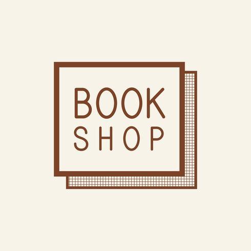Bookshop square sign icon vector