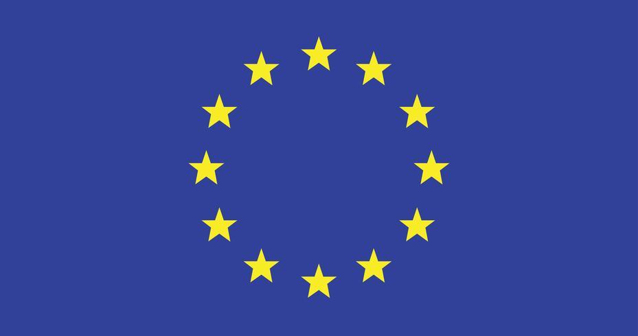 Illustration av Europeiska unionen flagga