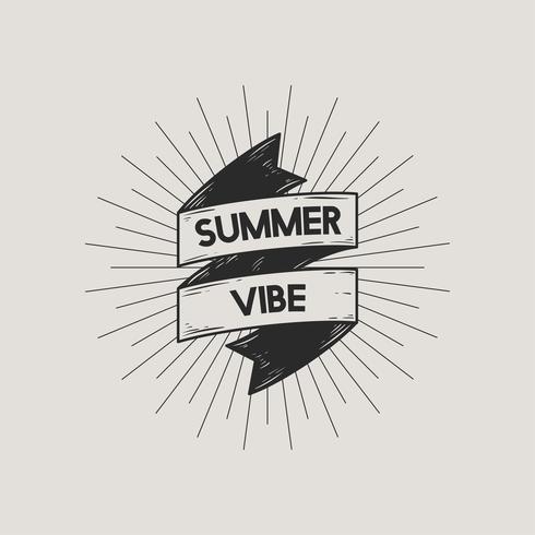 Ilustração, de, verão, concpet, ícone