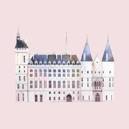 Conciergerie byggnad i Paris vektor