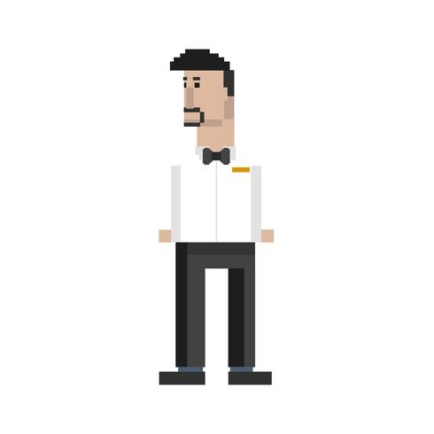 Pixel illustratie van bezetting