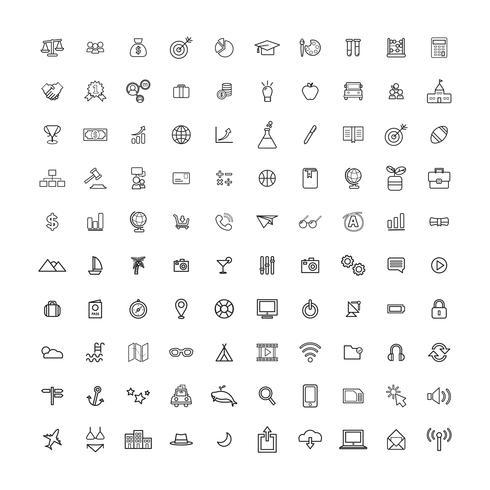 Illustration mixte d'icônes