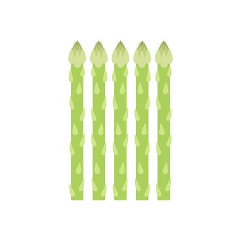 Ilustração gráfica saudável espargos verdes