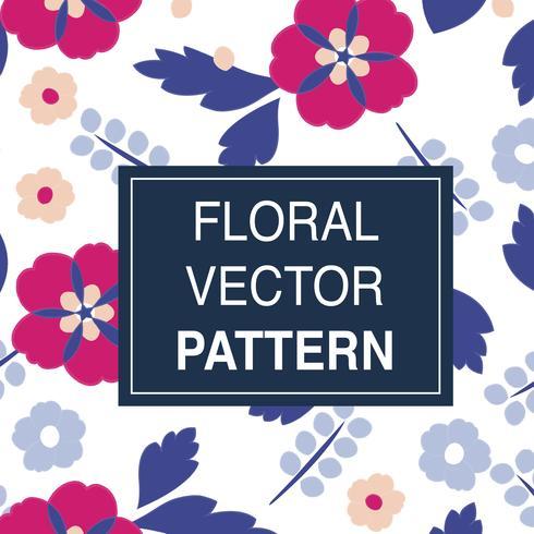 Ilustração, de, flores, padrão
