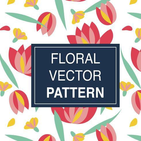 Set med blommiga vektormönster
