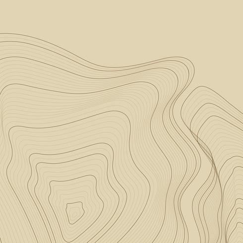 Ilustração de linhas de contorno abstrato marrom