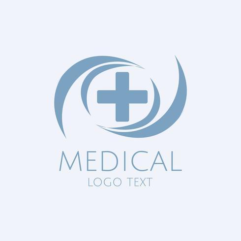 Vetor de logotipo de serviço médico azul