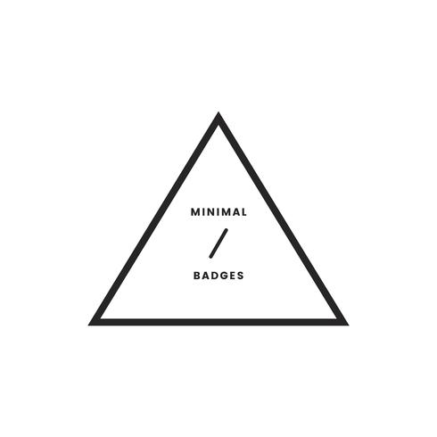 Minimal style badge and logo