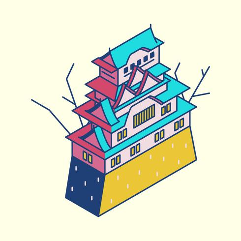Abbildung des Himeji-Schlosses in Japan