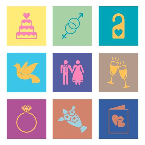 Satz von Liebes- und Hochzeitsvektoren