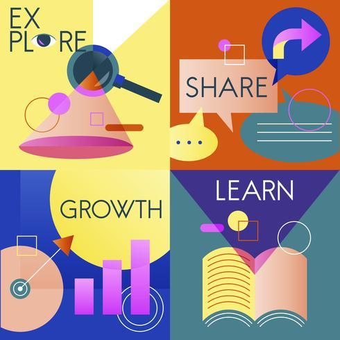 Illustrationssatz der Geschäftsstrategie