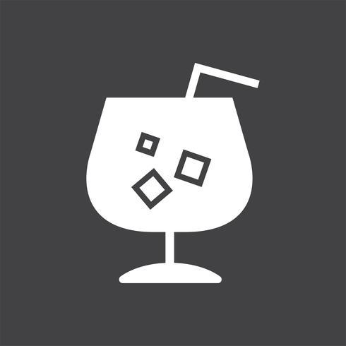 Bevanda fredda di rinfresco con un'illustrazione della paglia