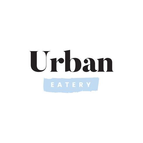 Einfacher städtischer Restaurantlogovektor