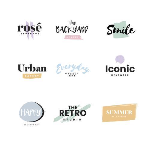Colección de logos y vector de branding.